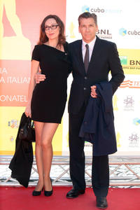 Simona Caparrini and Rodolfo Corsato at the 2012 Premi David di Donatello in Rome.