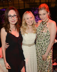 Simona Caparrini, Alison Pill and Greta Gerwig at the premiere of