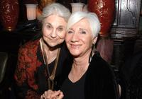 Lynn Cohen and Olympia Dukakis at the National Arts Club celebration.