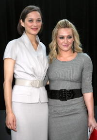 Marion Cotillard and Hilary Duff at the Bike In Style challenge winner announcement and awards ceremony.