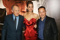 Michael Mann, Marion Cotillard and Steve Graham at the European premiere of