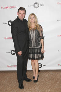 Brendan Coyle and Joann Froggatt at the 2012 Summer TCA Tour in California.