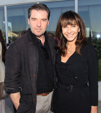 Brendan Coyle and Mary Steenburgen at the cocktail party of