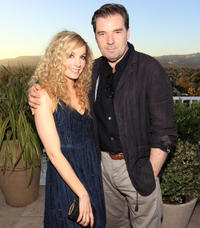 Joanne Froggatt and Brendan Coyle at the cocktail party of
