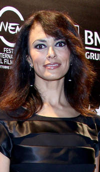 Maria Grazia Cucinotta at the Gala Telethon during the 5th International Rome Film Festival.