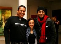 Manu Wairere, Keisha Castle-Hughes and Cliff Curtis at the cocktail reception of New Zealand Filmmarkers and