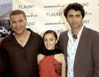 Rawiri Paratene, Keisha Castle-Hughes and Cliff Curtis at the premiere of