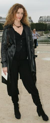 Marine Delterme at the Christian Dior Fashion show during the Sping/Summer 08 fashion week.