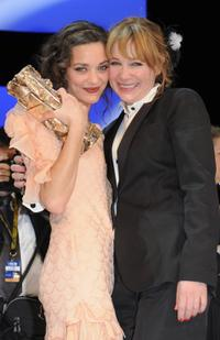Marion Cotillard and Julie Depardieu at the Cesar Film Awards 2008.