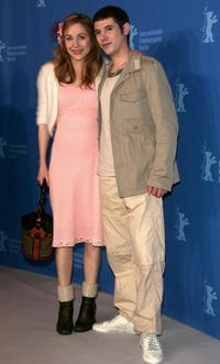 Julie Depardieu and Johan Libereau at the press conference to promote