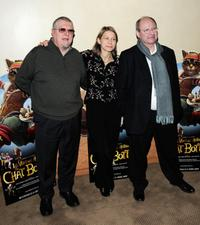 Pascal Herold, Macha Makeieff and Jerome Deschamps at the premiere of