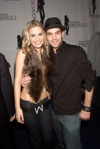 Willa Ford and Guillermo Diaz at the First Annual Pantene ProVoice Music Competition.