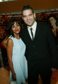 Corina and her boyfriend Guillermo Diaz at the premiere of