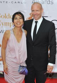 Hugh Dillon and his Wife at the 2010 Monte Carlo Television Festival.