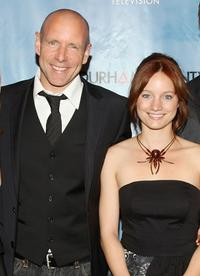 Hugh Dillon and Laurence Leboeuf at the series premiere of