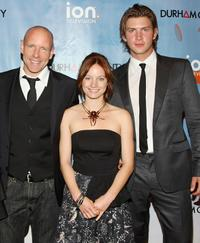 Hugh Dillon, Laurence Leboeuf and Greyston Holt at the series premiere of