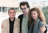 Henri Alekan, Director Wim Wenders and Solveig Dommartin at the presentation of