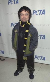 Peter Dinklage at the PETA Fashion Week Bash.
