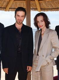 Romain Duris and Kristin Scott Thomas at the photocall of