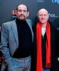 Karra Elejalde and screenwriter Paul Laverty at the Goya Awards 2011 Gala in Madrid.