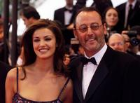 Nadia Fares and Jean Reno at the premiere of