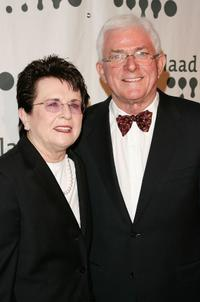 Billie Jean King and Phil Donahue at the 18th Annual GLAAD Media Awards.