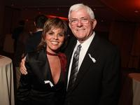 Jane Velez-Mitchell and Phil Donahue at the 20th Annual GLAAD Media Awards.