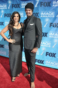 Jolene Rust and Michael Franti at the 42nd NAACP Image Awards in California.