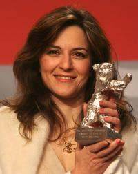 Martina Gedeck at the closing press conference of 57th Berlinale International Film Festival.