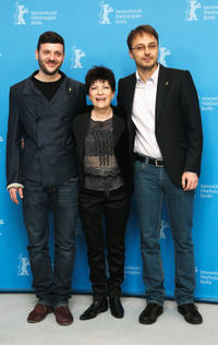 Bogdan Dumitrache, Luminita Gheorghiu and Calin Peter Netzer at the photocall of