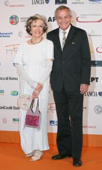 Victoria Zinny and Remo Girone at the Roma Fiction Fest 2008 Closing Ceremony and Diamond Awards.