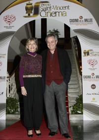 Victoria Zinny and her husband Remo Girone at the Grolle dOro Italian Movie Awards.