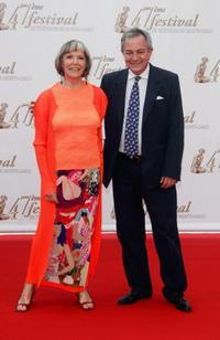Victoria Zinny and her husband Remo Girone at the opening night of the 2007 Monte Carlo Television Festival.