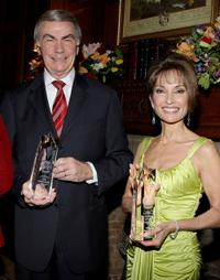 Sam Donaldson and Susan Lucci at the AFTRA Media and Entertainment Excellence Awards.