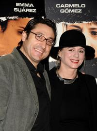 Carmelo Gomez and Emma Suarez at the premiere of