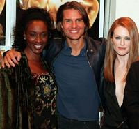 April Grace, Tom Cruise and Julianne Moore at the premiere of