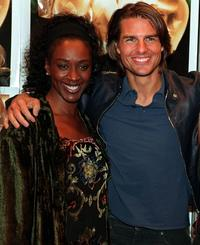 April Grace and Tom Cruise at the premiere of