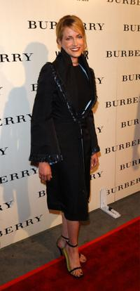 Lori Heuring at the grand opening of the Los Angeles Burberry store.