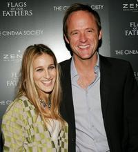 Sarah Jessica Parker and John Benjamin Hickey at the Cinema Society & Zenith Watches screening of