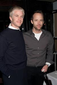Matthew Modine and John Benjamin Hickey at the opening night party of