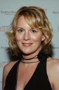 Laurel Holloman at the Lloyd Klein catwalk show at Los Angeles Fashion week.