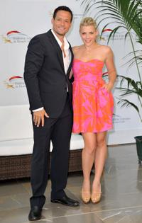 Josh Hopkins and Busy Philipps at the photocall of