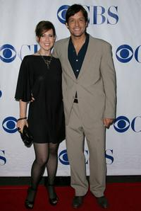 Miriam Shor and Josh Hopkins at the premiere of the new CBS show