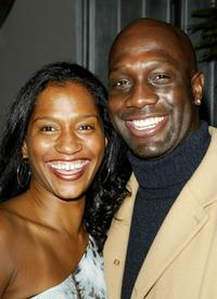 Richard T. Jones and wife at the party to celebrate the 100th episode.