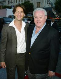 Antonie Kamerling and Producer James Robinson at the premiere of