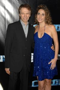 Jerry Bruckheimer and Melina Kanakaredes at the CSI: NY 100th episode celebration.
