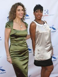 Melina Kanakaredes and Tichina at the