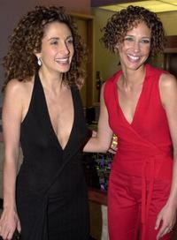 Melina Kanakaredes and Vera Farmiga at the premiere of