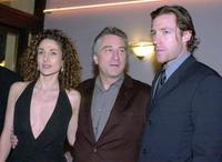 Melina Kanakaredes, Robert De Niro and Edward Burns at the premiere of