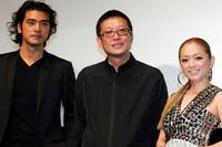 Takeshi Kaneshiro, Director Andrew Lau and Ayumi Hamasaki at the premiere of